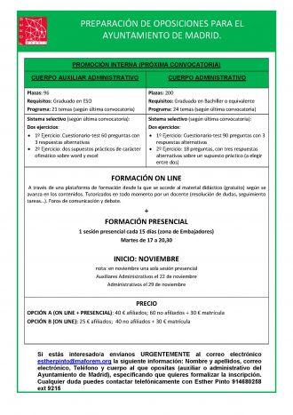 cartel oposiciones ayuntamiento administrativo y auxiliar II